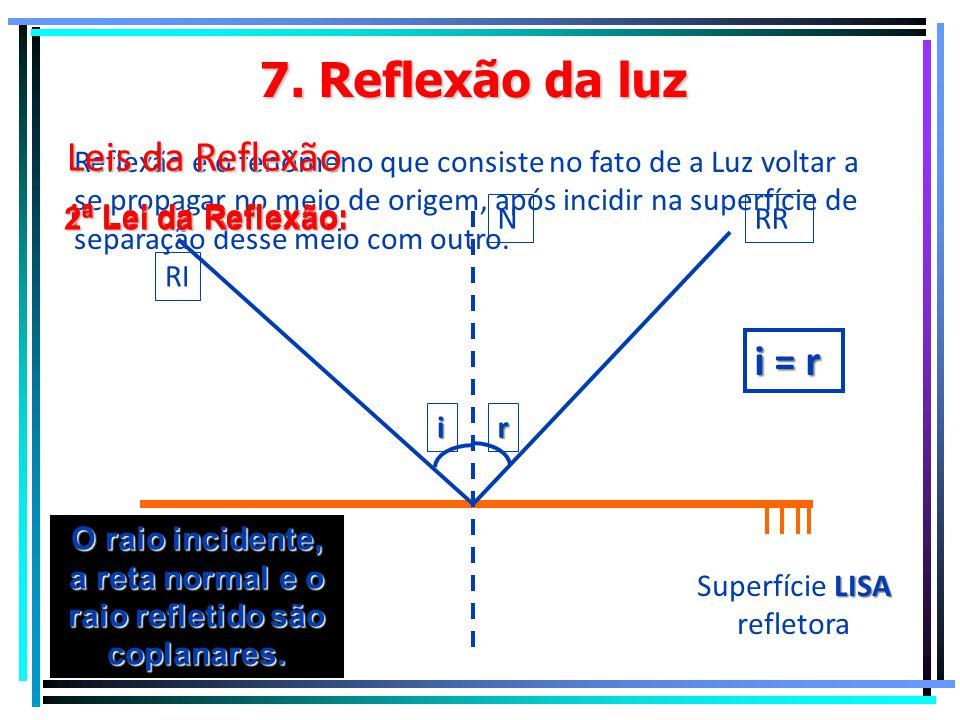 6. Cor dos objetos Azul Cor Azul Luz Azul Luz Branca Luz Amarela Preto Luz Vermelha