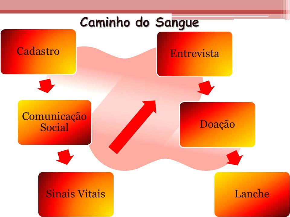 Cadastro Comunicação Social Sinais VitaisEntrevistaDoaçãoLanche