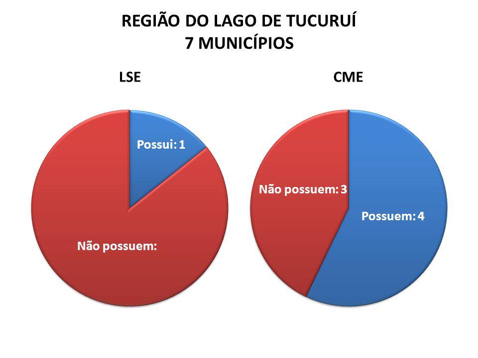 REGIÃO DO LAGO DE TUCURUÍ 7 MUNICÍPIOS LSECME