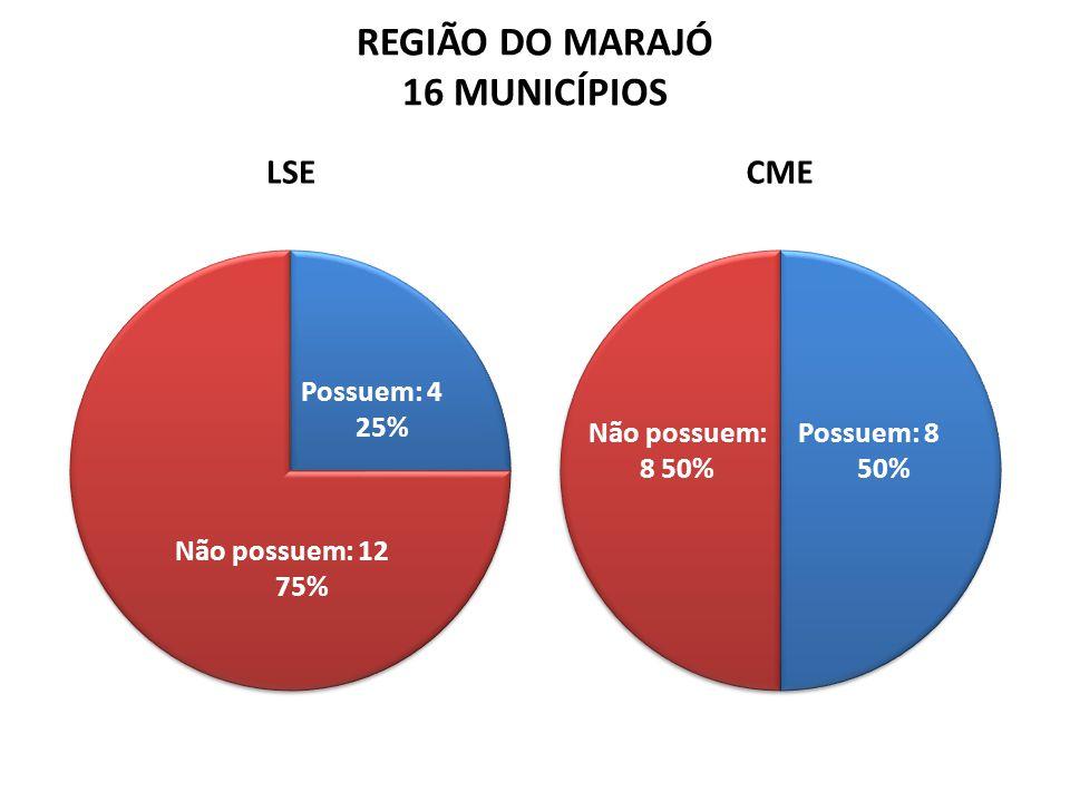 REGIÃO DO MARAJÓ 16 MUNICÍPIOS LSECME