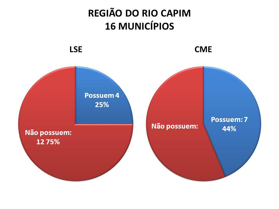 REGIÃO DO RIO CAPIM 16 MUNICÍPIOS LSECME