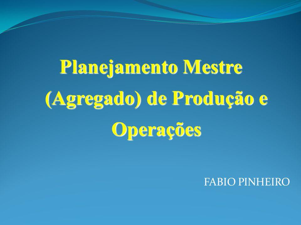 FABIO PINHEIRO Planejamento Mestre (Agregado) de Produção e Operações