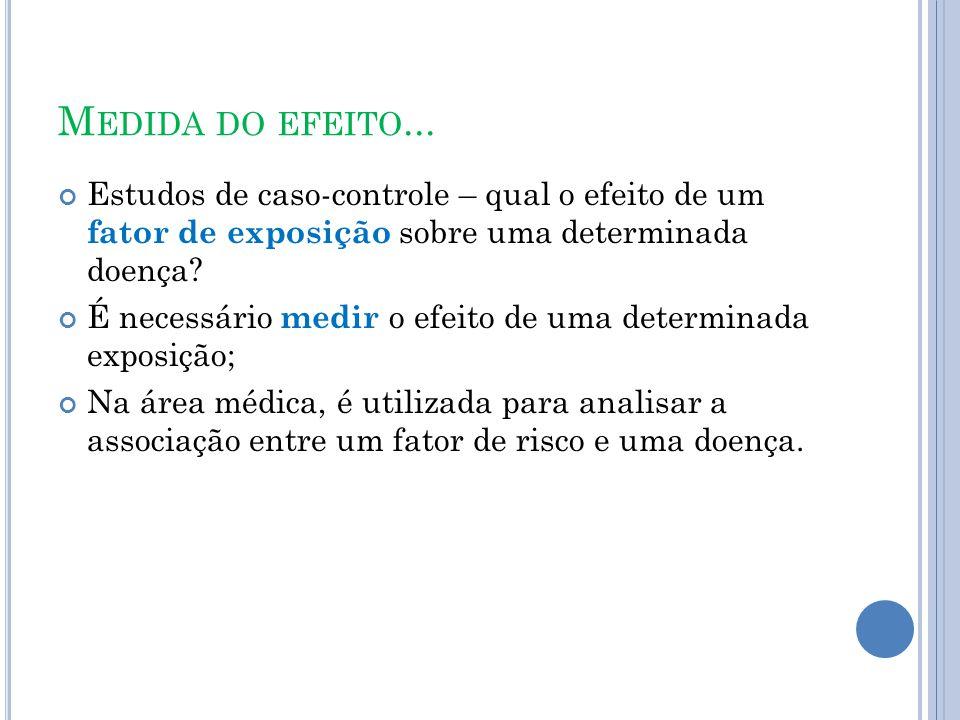 M EDIDA DO EFEITO...