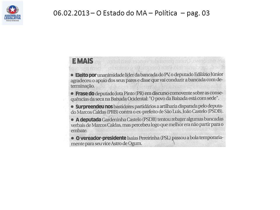 06.02.2013 – O Estado do MA – Urbano – pag.
