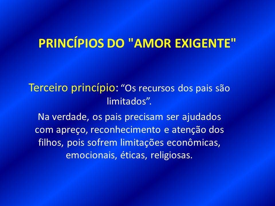 PRINCÍPIOS DO AMOR EXIGENTE Segundo princípio: Os pais também são gente.