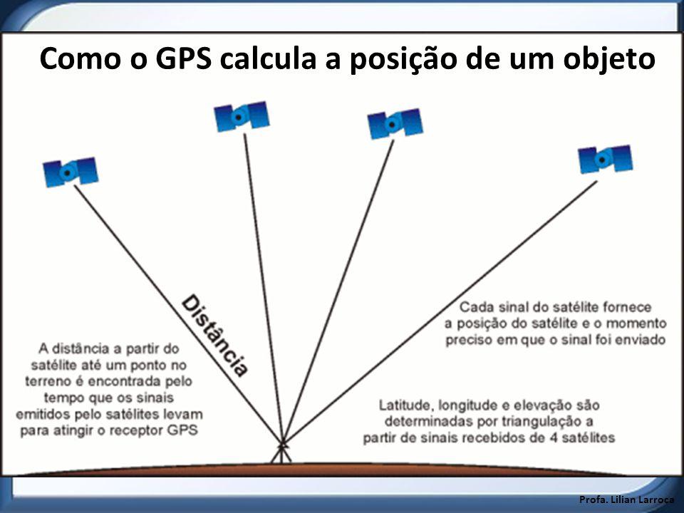 Profa. Lilian Larroca Como o GPS calcula a posição de um objeto