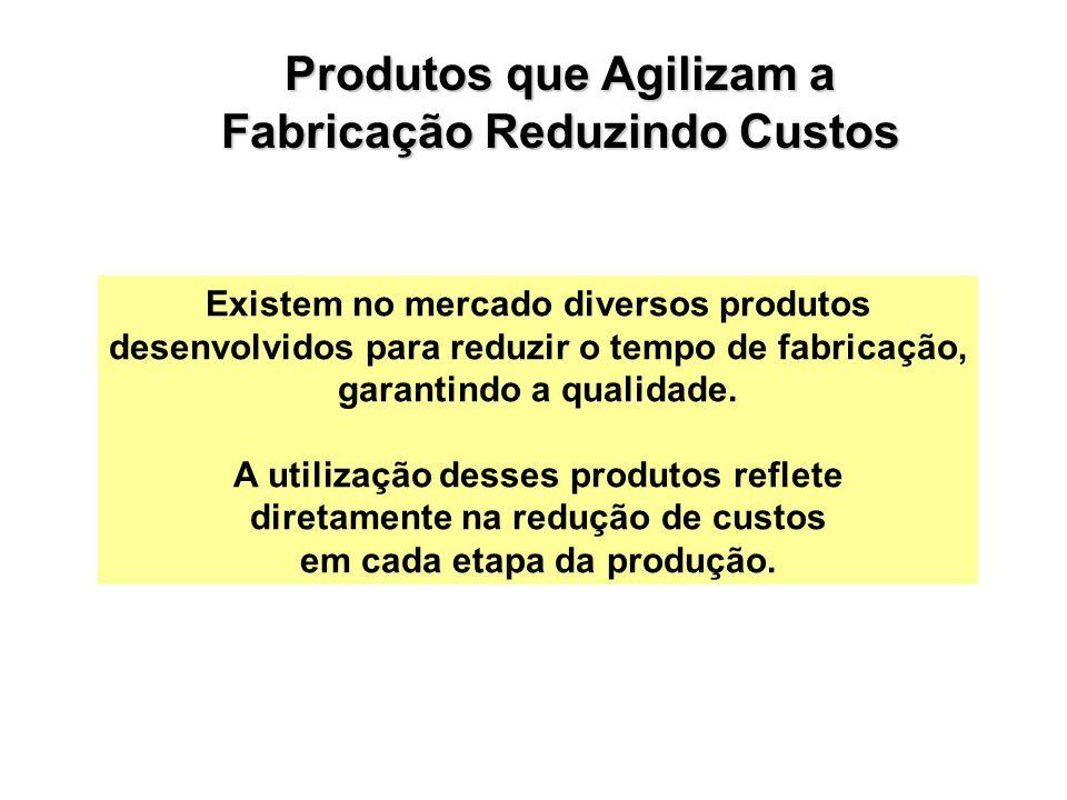 Existem no mercado diversos produtos desenvolvidos para reduzir o tempo de fabricação, garantindo a qualidade.