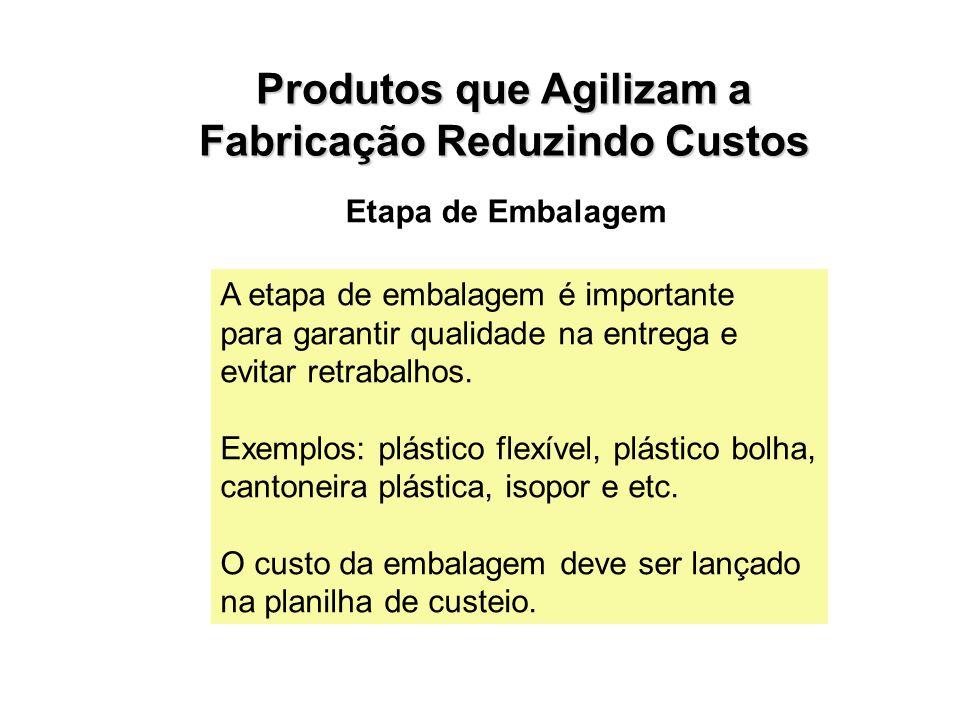 Etapa de Embalagem A etapa de embalagem é importante para garantir qualidade na entrega e evitar retrabalhos.
