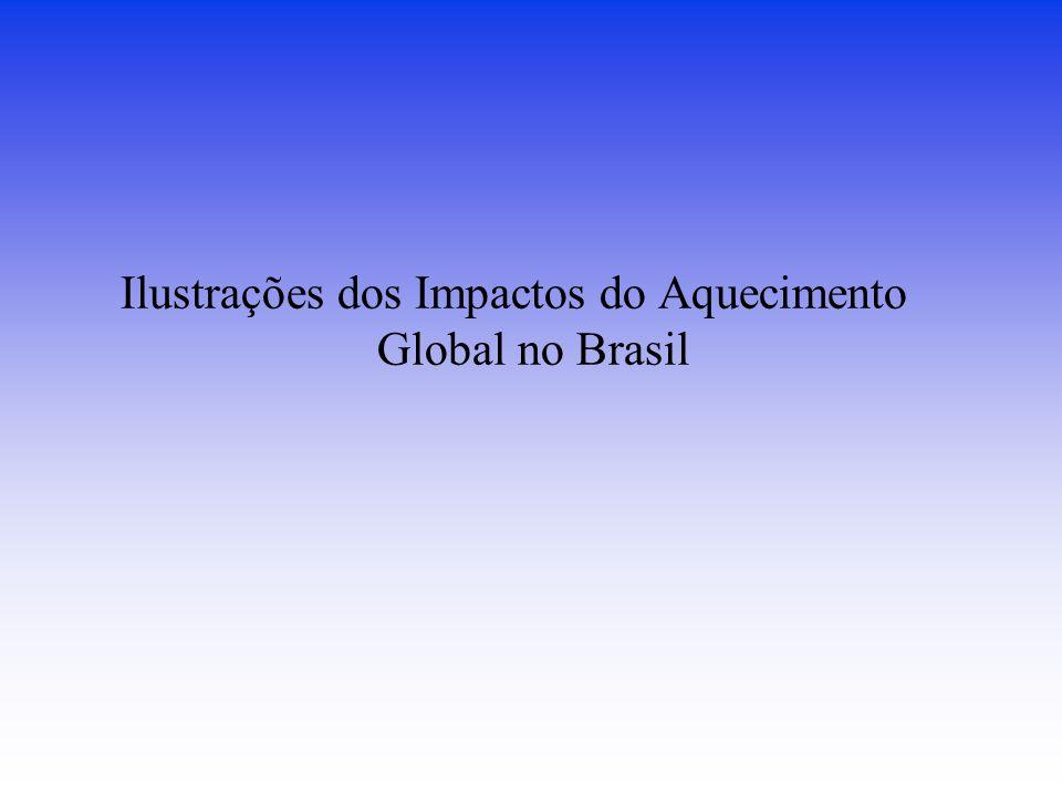 Ilustrações dos Impactos do Aquecimento Global no Brasil