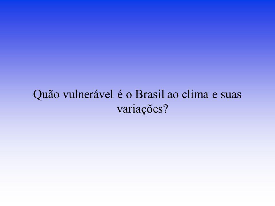 Quão vulnerável é o Brasil ao clima e suas variações?