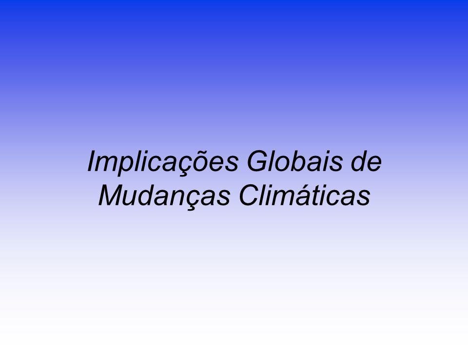 Implicações Globais de Mudanças Climáticas