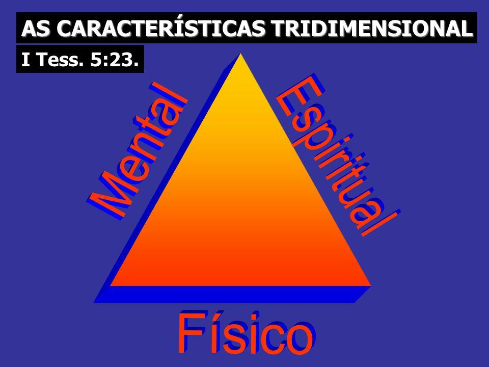 AS CARACTERÍSTICAS TRIDIMENSIONAL I Tess. 5:23.