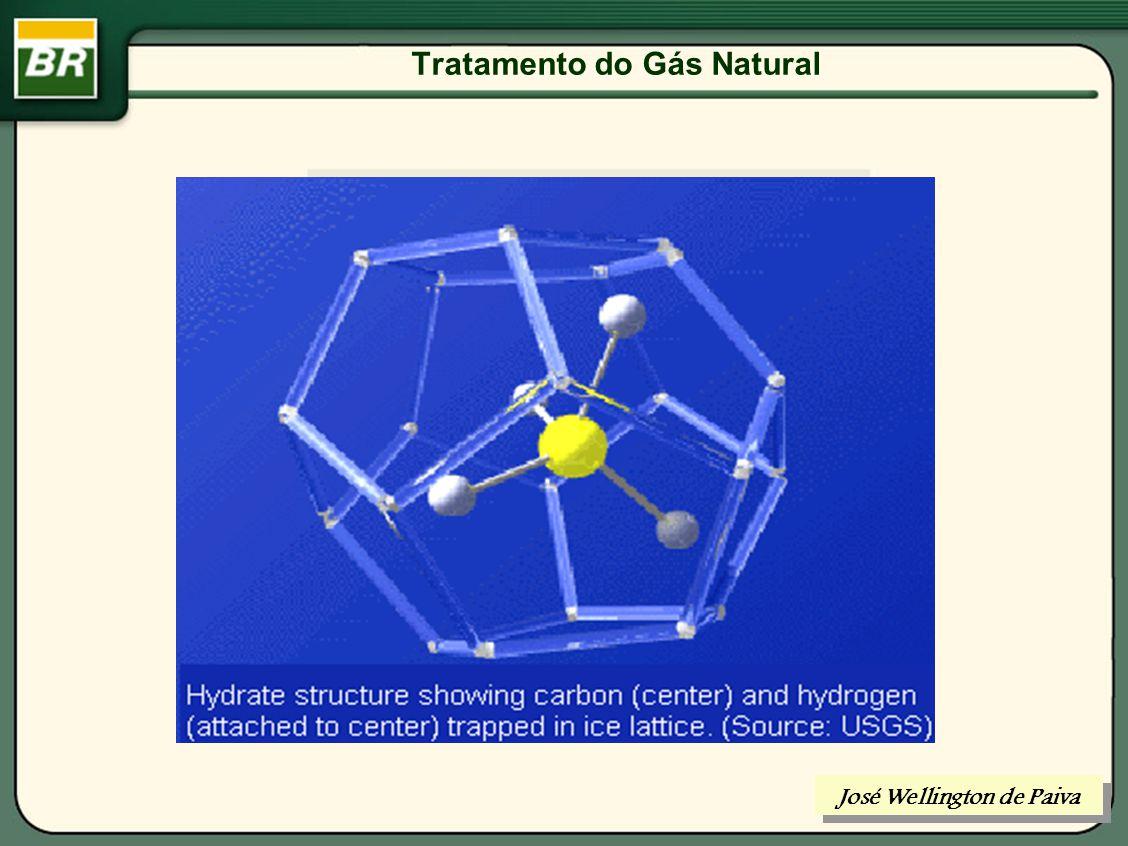Tratamento do Gás Natural PRINCIPAIS TRATAMENTOS: DESIDRATAÇÃO: H20 DESSULFURIZAÇÃO: H2S, MERCAPTANS, ETC.