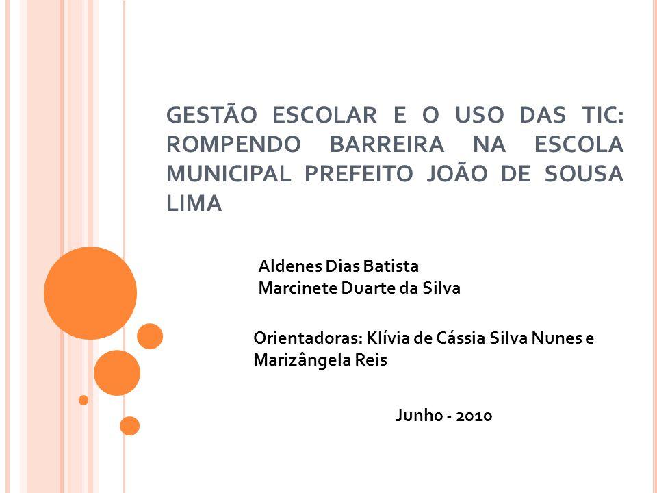L OCAL DO PROJETO O projeto foi executado na Escola Municipal Prefeito João de Sousa localizada na Rua Zacarias Barros esquina com a Rua Campos Elísios, S/N, Setor Itapuã, na zona periférica da cidade de Araguaína.