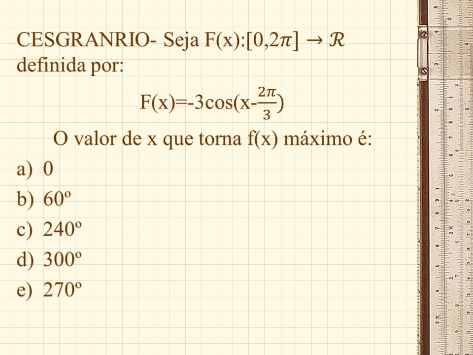 FUVEST- A figura a seguir mostra parte do gráfico da função: a)Senx b)2senx/2 c)2senx d)2sen2x e)sen2x