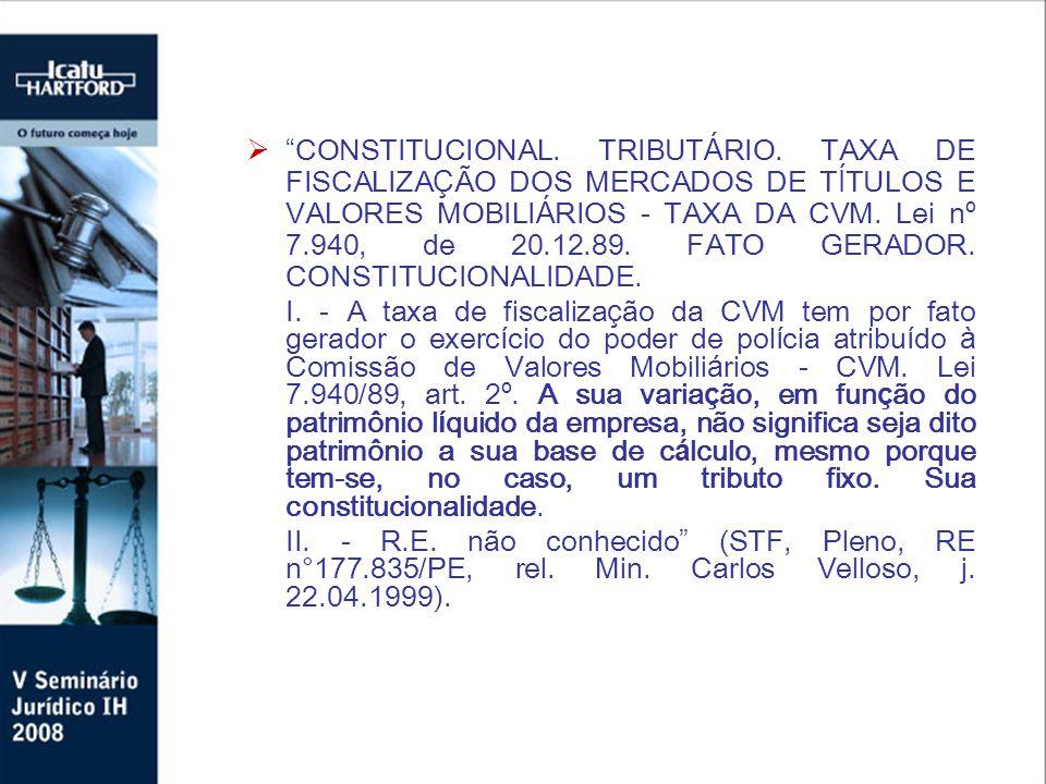 CONSTITUCIONAL. TRIBUT Á RIO.