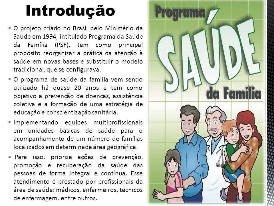 Em 1994 foi criado o Programa de Saúde da Família (PSF), também sob a esfera do Ministério da Saúde, tendo o primeiro documento oficial intitulado Programa Saúde da Família: Dentro de Casa.