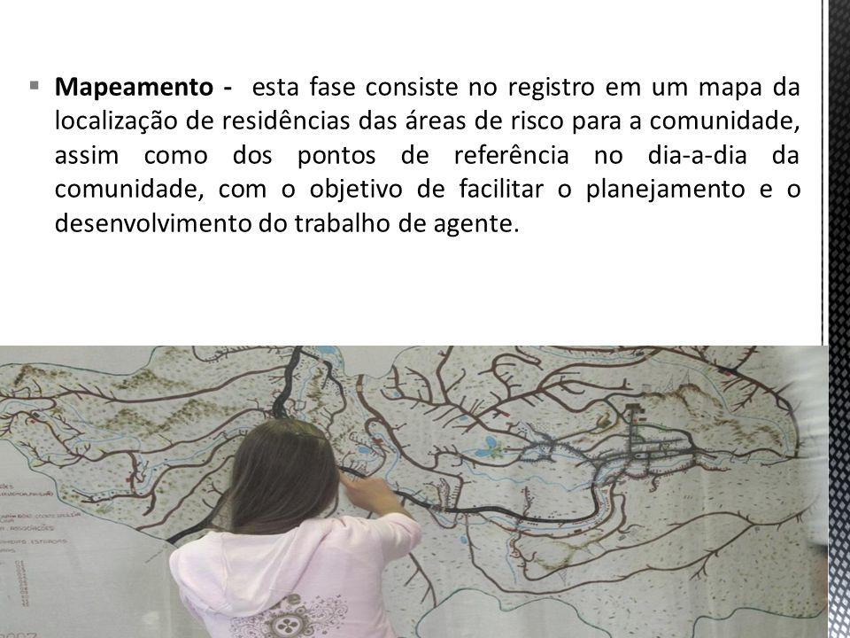 Cadastramento As equipes de saúde deverão realizar o cadastramento das famílias através de visitas aos domicílios, segundo a definição da área territorial pré-estabelecida para a descrição.