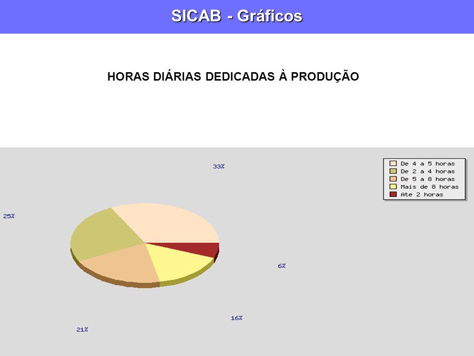 SICAB - Gráficos HORAS DIÁRIAS DEDICADAS À PRODUÇÃO