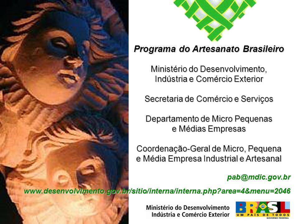 Programa Artesanato Brasileiro Programa do Artesanato
