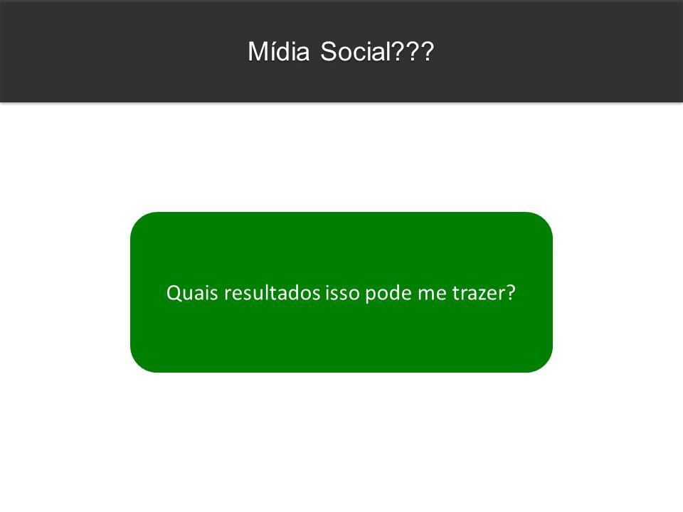 Quais resultados isso pode me trazer? Mídia Social???