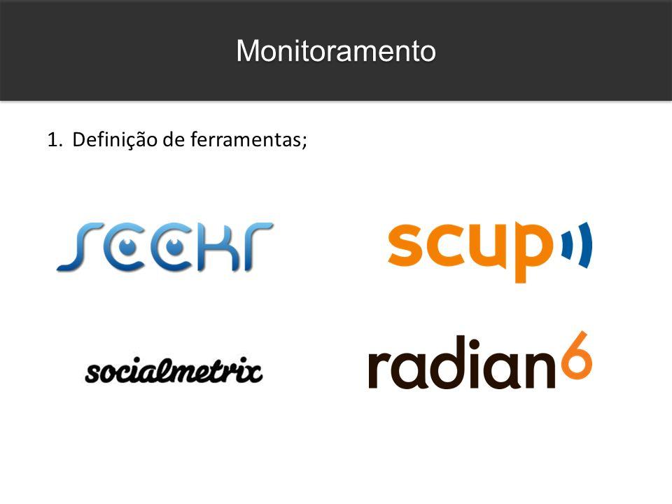 Monitoramento 1.Definição de ferramentas;