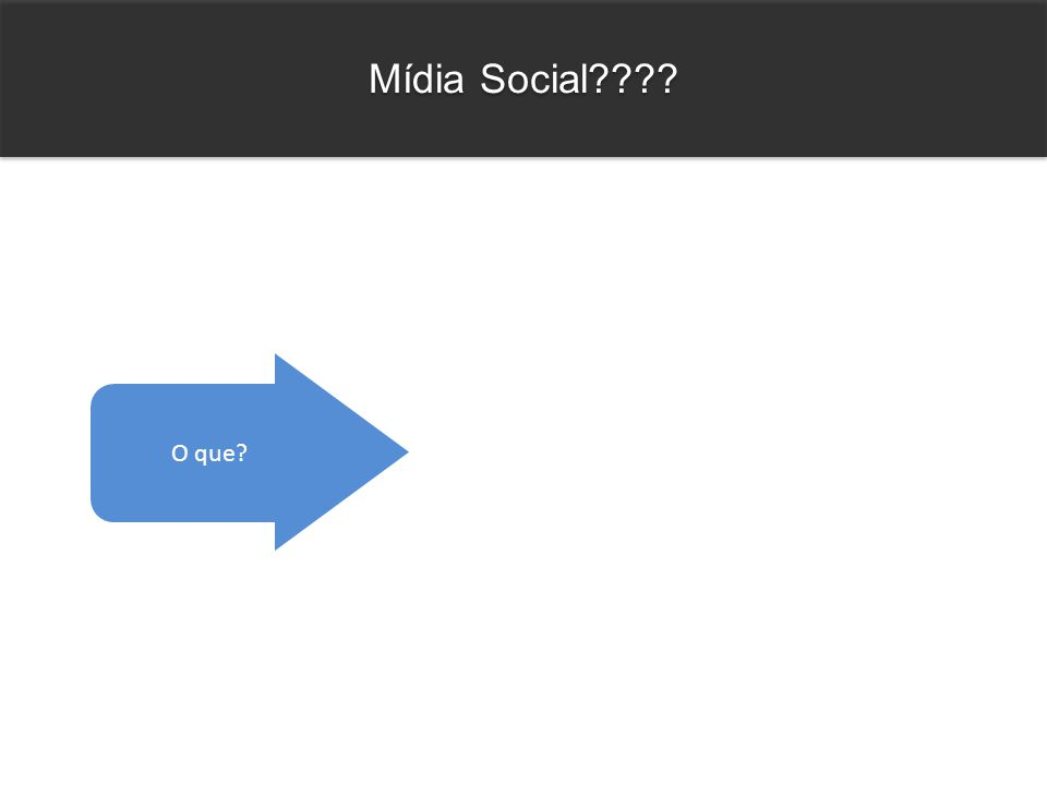 Mídia Social???? O que?