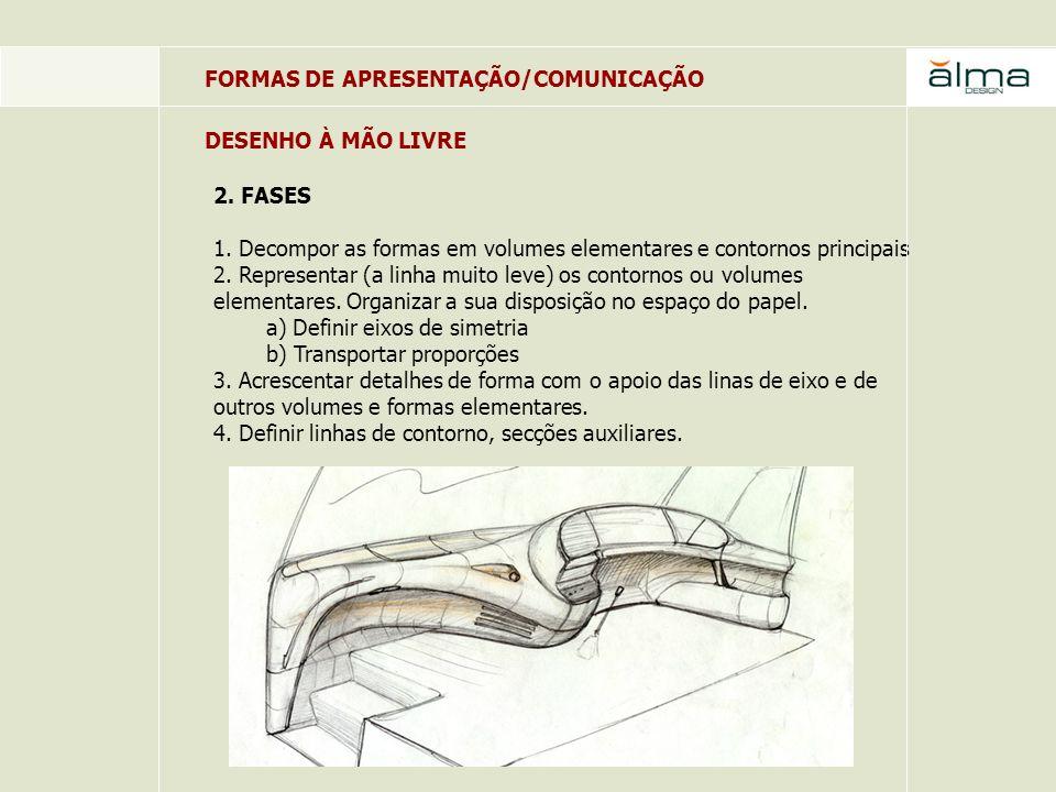 FORMAS DE APRESENTAÇÃO/COMUNICAÇÃO 2.FASES 5. Reforçar traços principais.