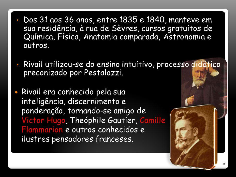 Dos 31 aos 36 anos, entre 1835 e 1840, manteve em sua residência, à rua de Sèvres, cursos gratuitos de Química, Física, Anatomia comparada, Astronomia