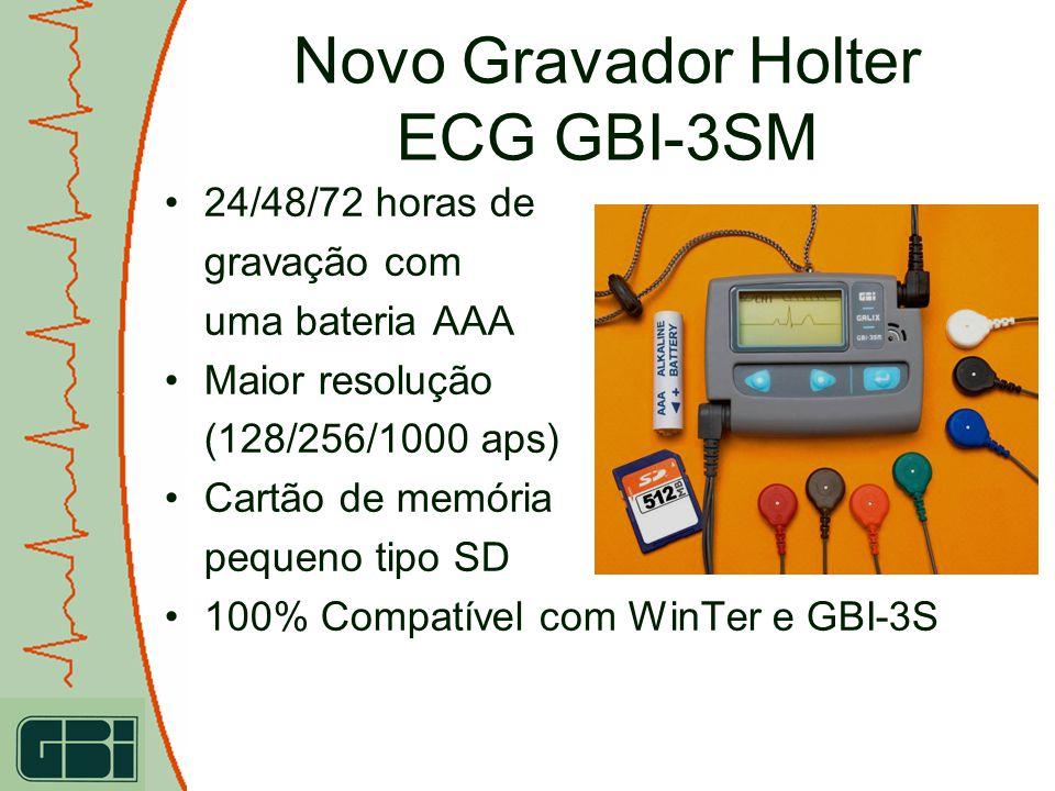 24/48/72 horas de gravação com uma bateria AAA Maior resolução (128/256/1000 aps) Cartão de memória pequeno tipo SD 100% Compatível com WinTer e GBI-3