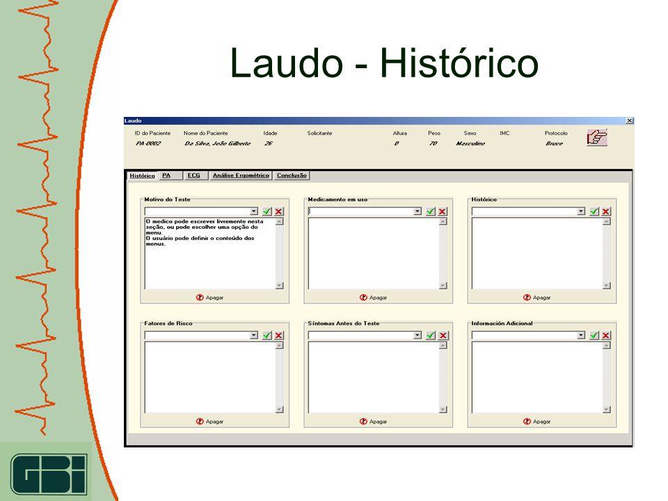 Laudo - Histórico