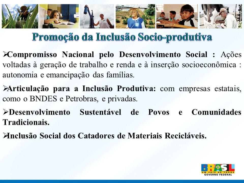 Compromisso Nacional pelo Desenvolvimento Social : Ações voltadas à geração de trabalho e renda e à inserção socioeconômica : autonomia e emancipação