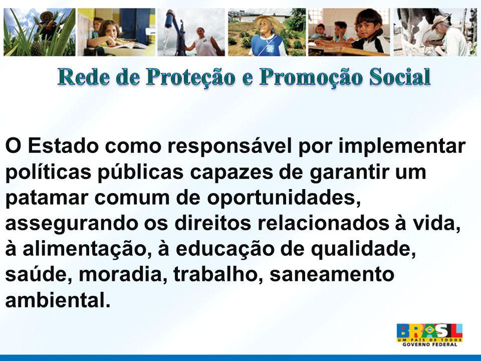 O Estado como responsável por implementar políticas públicas capazes de garantir um patamar comum de oportunidades, assegurando os direitos relacionad