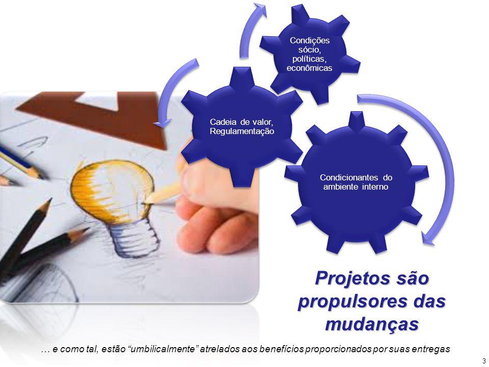 Projetos são propulsores das mudanças … e como tal, estão umbilicalmente atrelados aos benefícios proporcionados por suas entregas 3