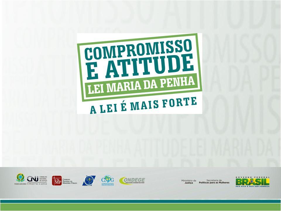 Campanha Compromisso e Atitude Contexto: Altos índices de violência contra as mulheres 6 anos da Lei Maria da Penha: conhecimento e credibilidade na lei; pouca credibilidade na sua aplicação.