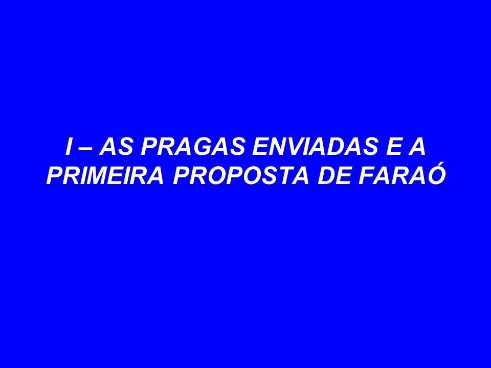 I – AS PRAGAS ENVIADAS E A PRIMEIRA PROPOSTA DE FARAÓ
