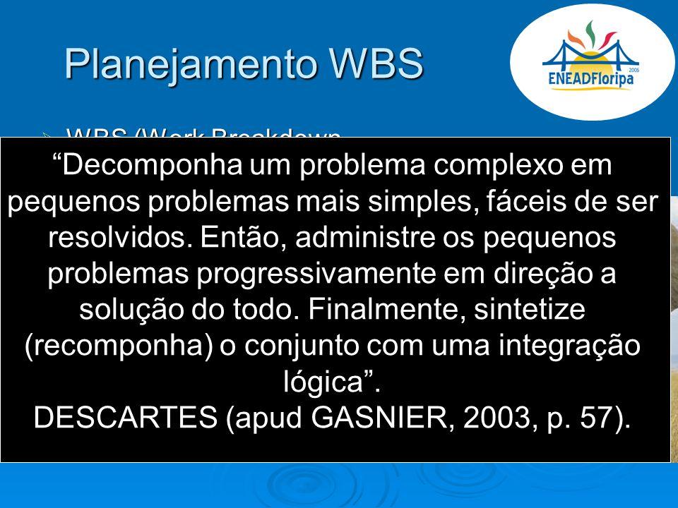 Planejamento WBS WBS (Work Breakdown Structure); WBS (Work Breakdown Structure); Artigo de WBS (sensibilização); Artigo de WBS (sensibilização); Coord