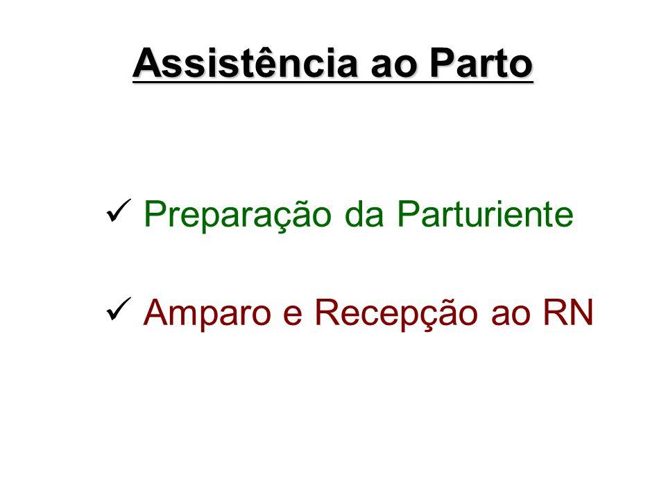 Assistência ao Parto Preparação da Parturiente Amparo e Recepção ao RN