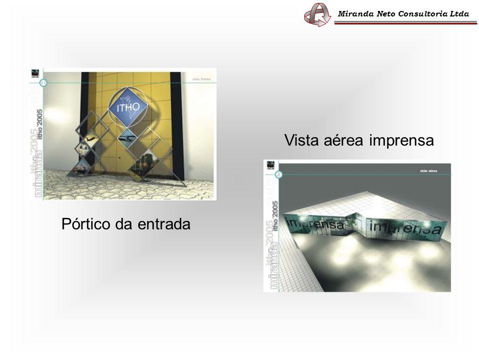Miranda Neto Consultoria Ltda Pórtico da entrada Vista aérea imprensa