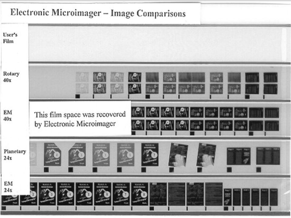 Erros Típicos de Microfilmagem F B Enrosco Espaço em Braco Densid. Variável Vãos Distorsão Cantos Dobrados Mãos! 2 Etapas Frente/Verso