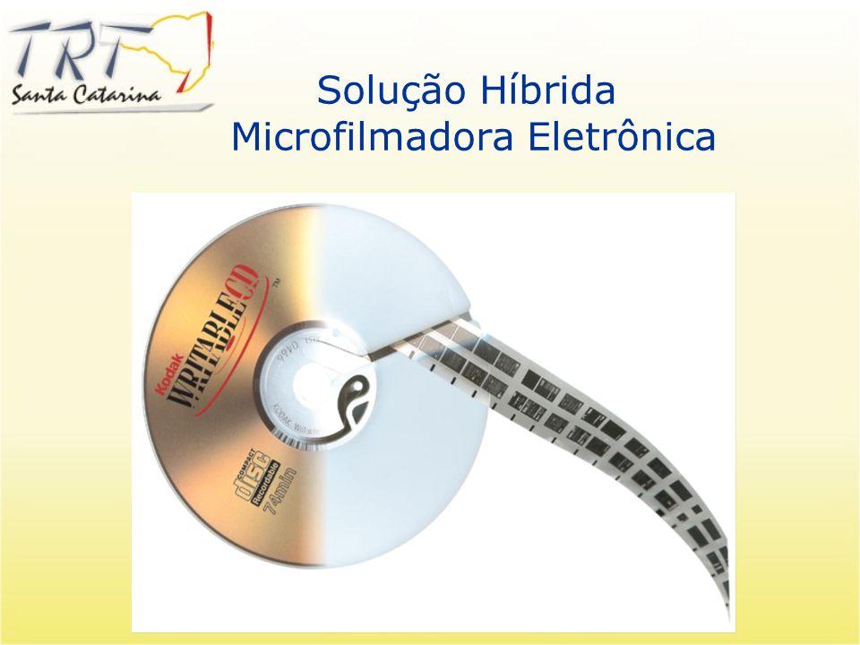 Comparação dos Sistemas Microfilmagem Microfilmagem Vantagens: Custo baixo de armazenagem Melhor meio arquivístico (Durabilidade) Aceito como um meio