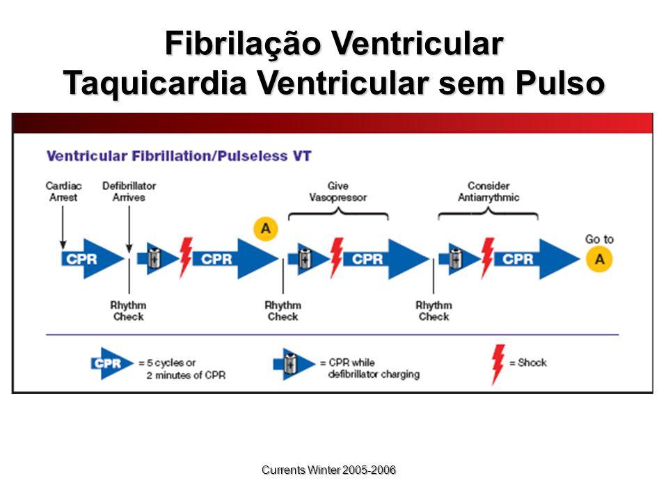 Fibrilação Ventricular Taquicardia Ventricular sem Pulso Currents Winter 2005-2006