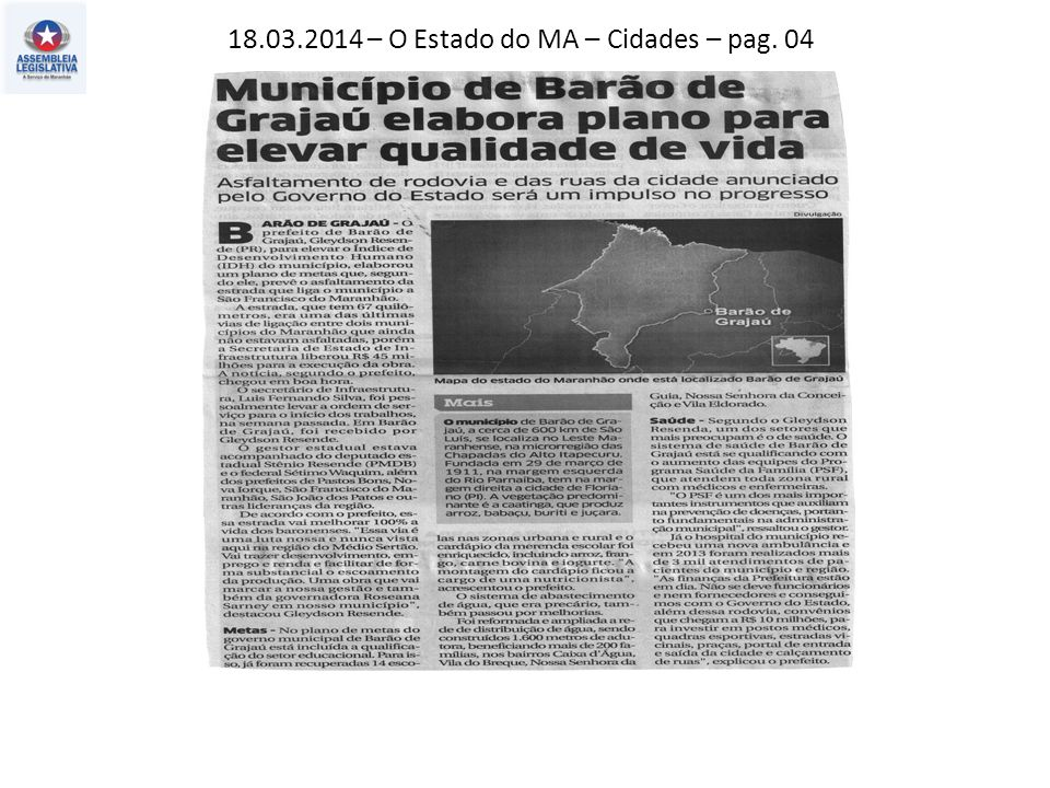 18.03.2014 – O Estado do MA – Cidades – pag. 04