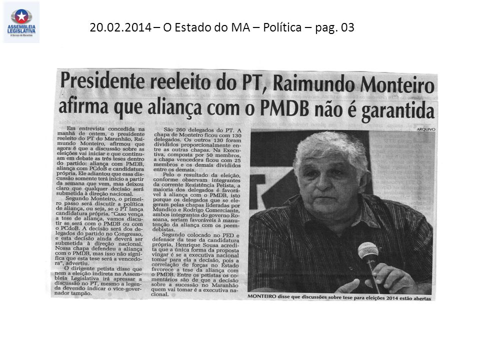 19.02.2014 – O Estado do MA -Política – pag. 03