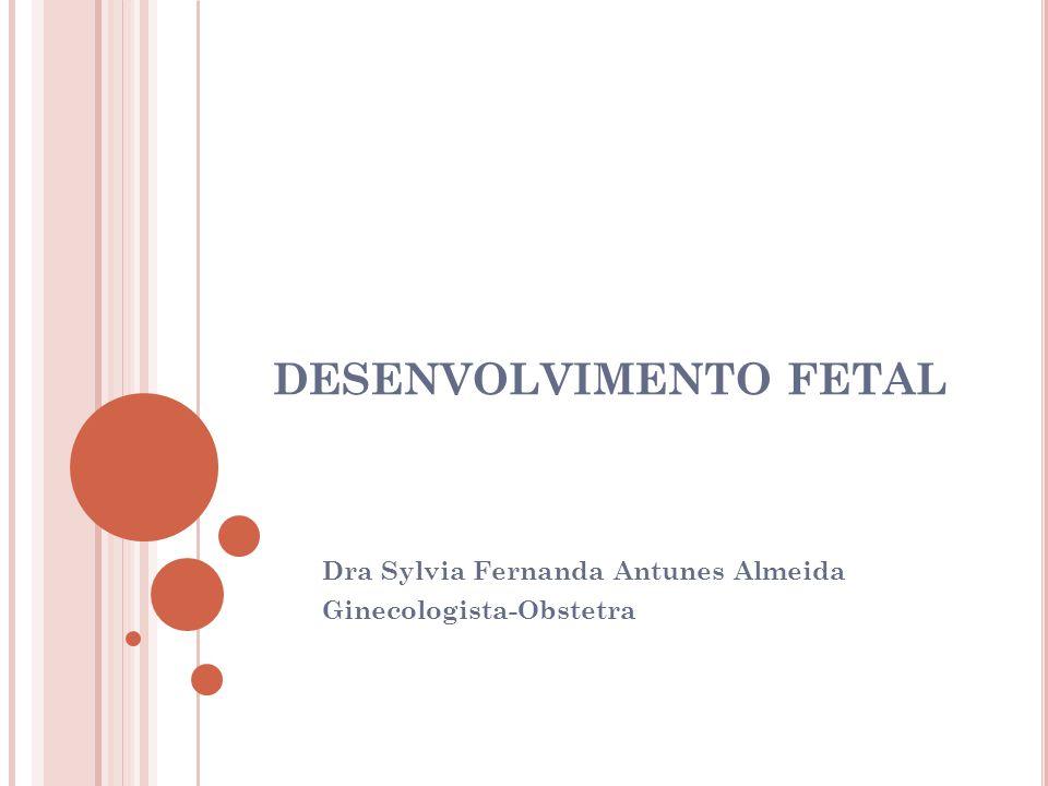 DESENVOLVIMENTO FETAL Dra Sylvia Fernanda Antunes Almeida Ginecologista-Obstetra
