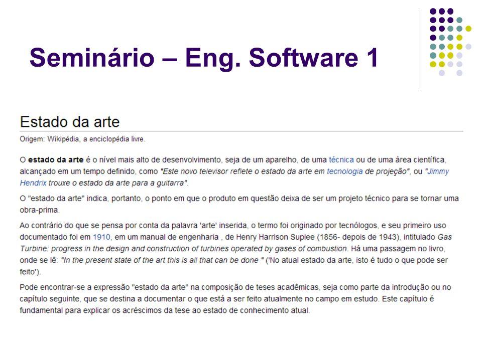 Seminário – Eng. Software 1