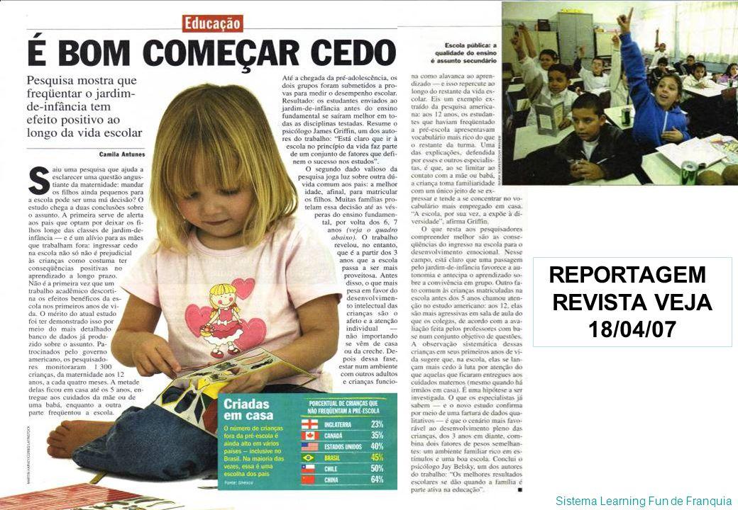 Sistema Learning Fun de Franquia ANÚNCIOS DE ESCOLAS BILÍNGÜES NA REVISTA PAIS & FILHOS MARÇO DE 2007