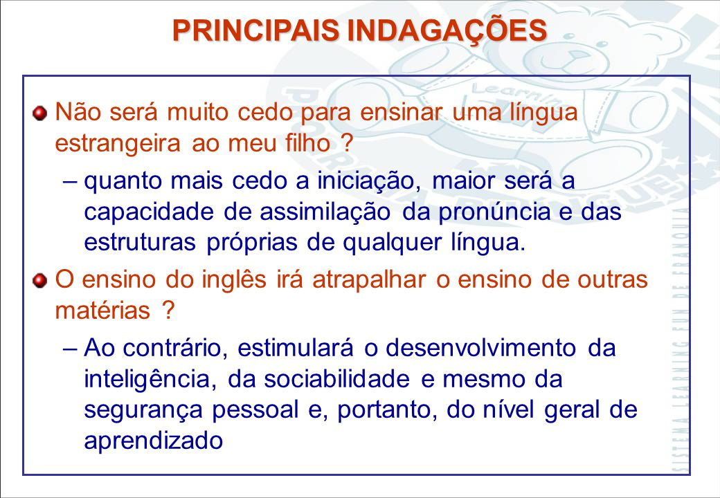 Sistema Learning Fun de Franquia MÉTODO LEARNING FUN E SUA IMPLANTAÇÃO