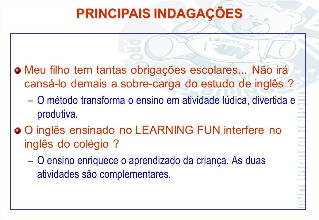 Sistema Learning Fun de Franquia A criança não irá misturar o inglês com o português ? –Pais de origem estrangeira jamais colocaram esta questão, porq