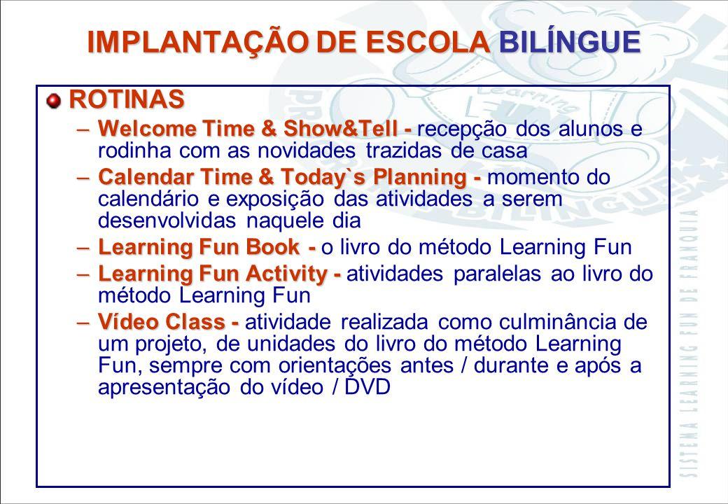 Sistema Learning Fun de Franquia CIÊNCIAS INFORMÁTICA MATEMÁTICA ARTES ESTUDOS SOCIAIS MÚSICA ATIVIDADES – –Vídeos - referentes a cada tema trabalhado